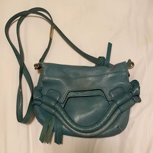 Turquoise Foldover Snap Purse